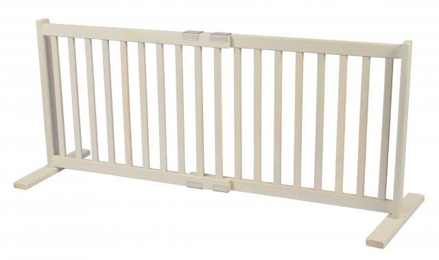 small all wood kensington gate u2013 warm white 20u2033h 28u2033 to 48u2033w