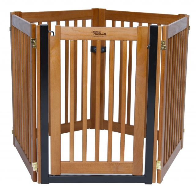 Freestanding Walk Through 5 Panel Wood Gate Artisan