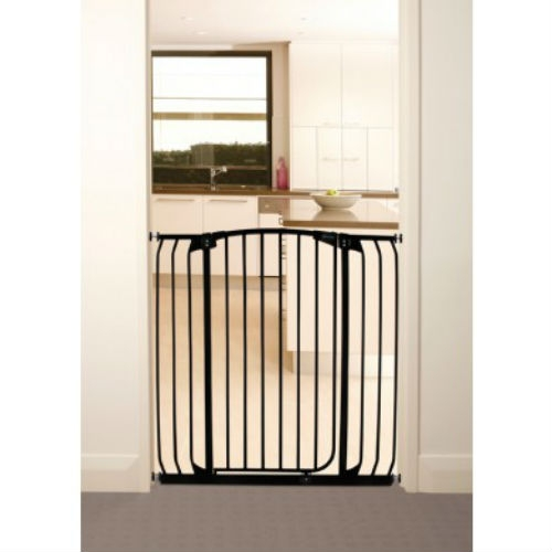 Chelsea Extra Tall & Wide Swing Close Gate Plus 21 (60-63 inches) – Black